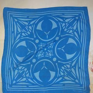 FRANK LLOYD WRIGHT Blue Silk SCARFScarve